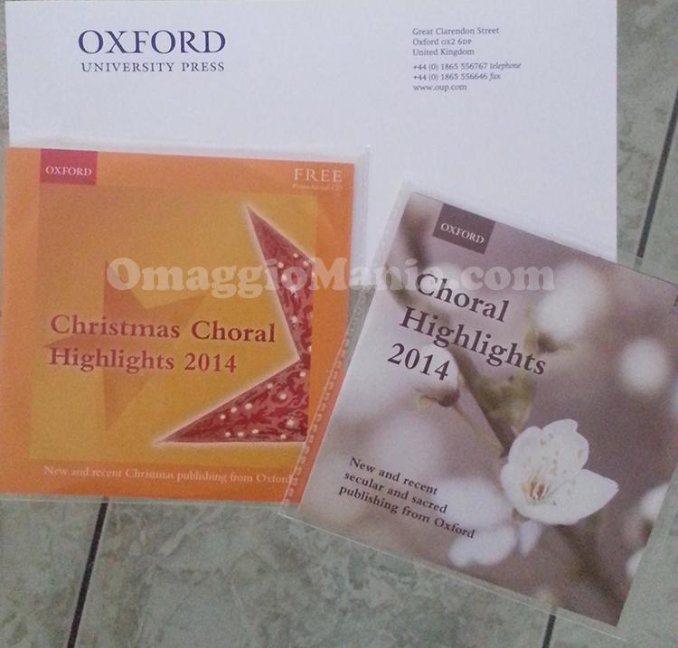 cd musicale omaggio Oxford University Press