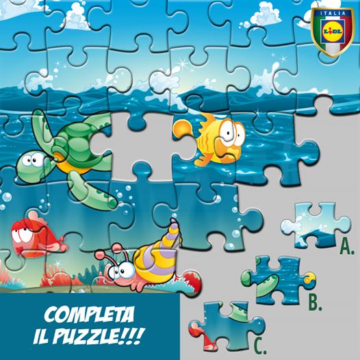 completa il puzzle, vinci gadget Lidl