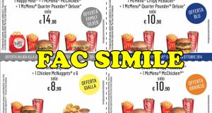 coupon McDrive McDonald's settimana 5