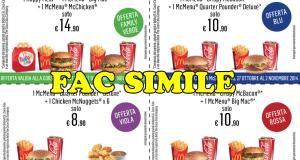 coupon McDrive McDonald's settimana 6