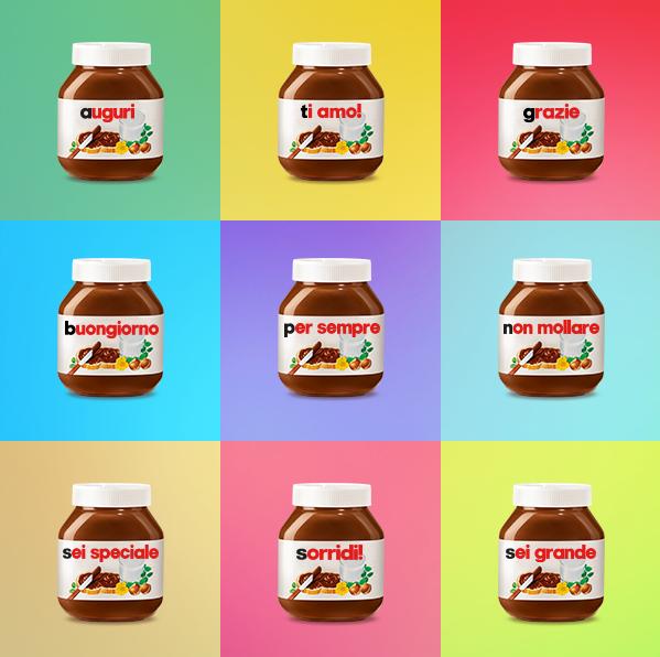 etichetta Nutella personalizzata con il tuo messaggio