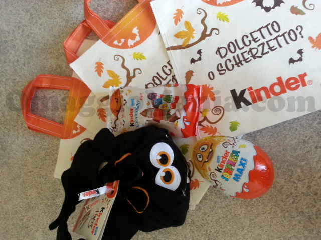 shopper Halloween omaggio da Kinder
