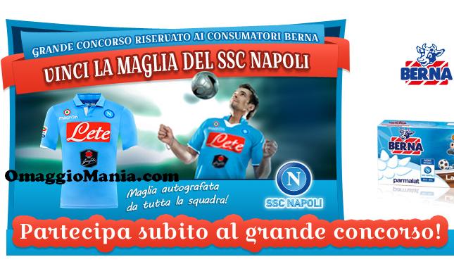 vinci maglietta del Napoli con Berna