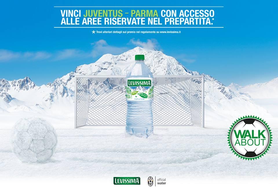vinci pacchetto Walk About Juventus con Levissima