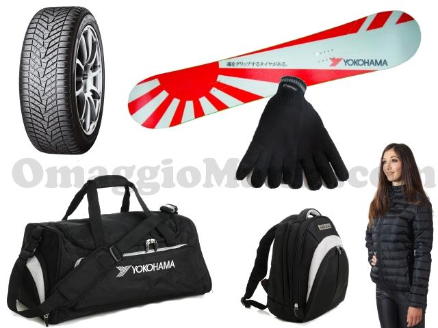 vinci set pneumatici Yokohama e gadget