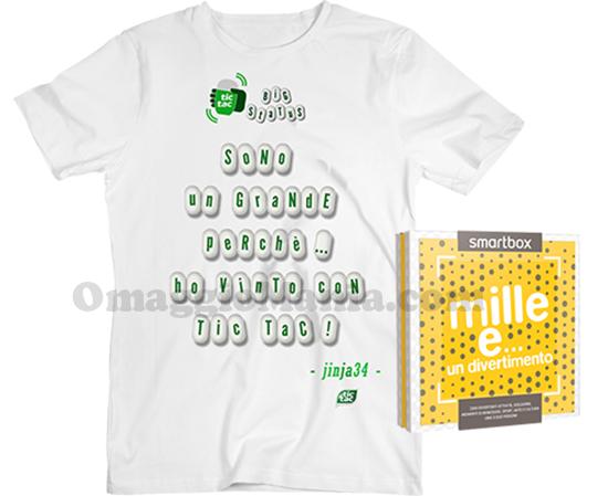 vinci t-shirt personalizzata Tic Tac