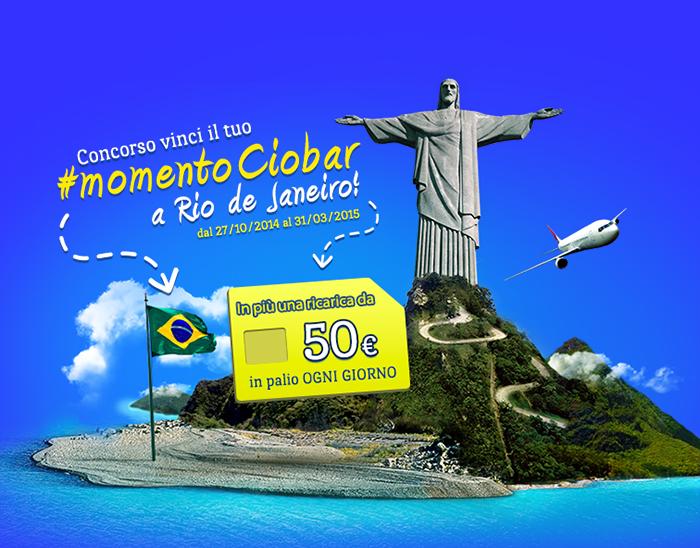 vinci viaggio a Rio de Janeiro con Ciobar Cameo