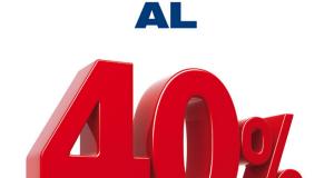 40 giorni con sconto 40% da Esselunga