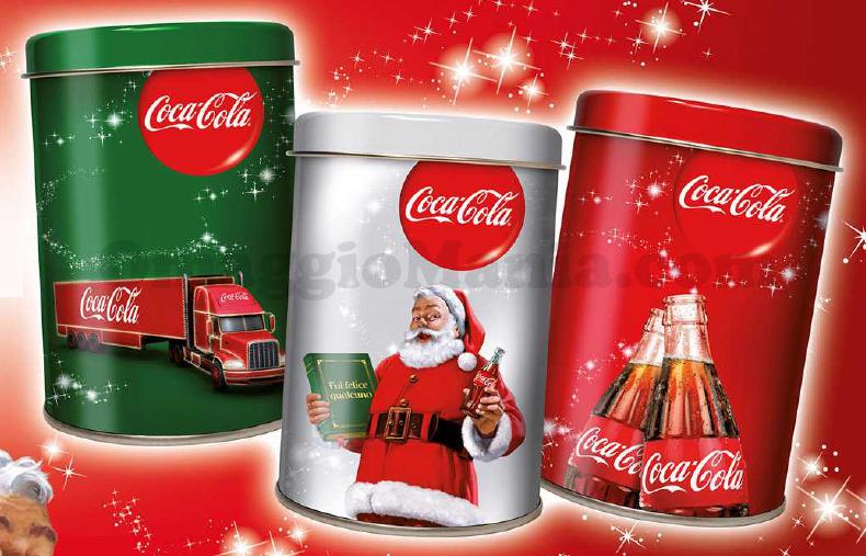 Barattolo Coca Cola omaggio Natale 2014