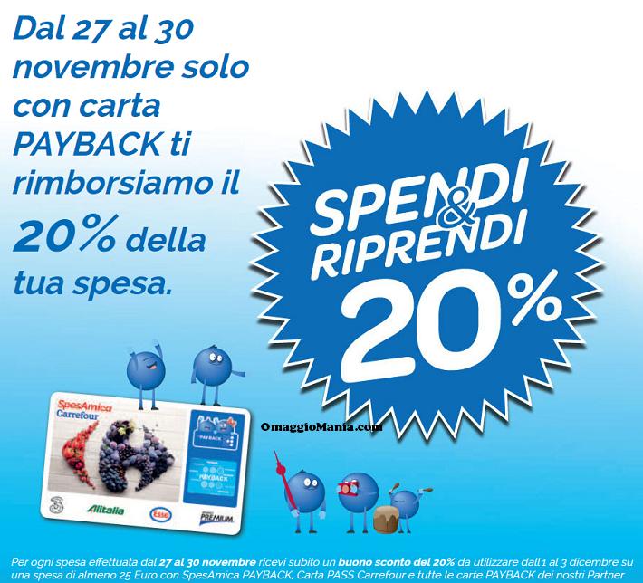 Spendi&Riprendi Carrefour dal 27 al 30 novembre 2014