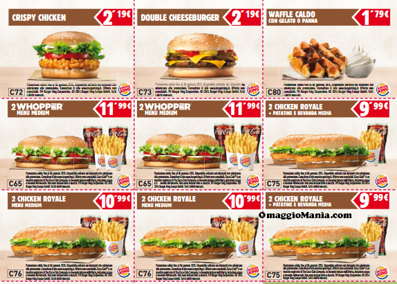 Free coupon codes for fast food