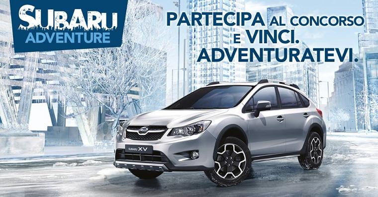 vinci una vacanza alla guida di una Subaru