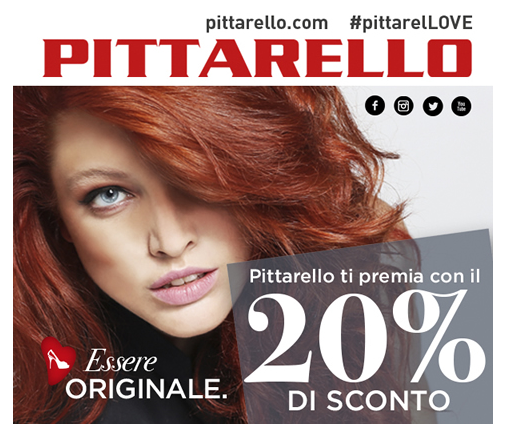 coupon Pittarello 20%