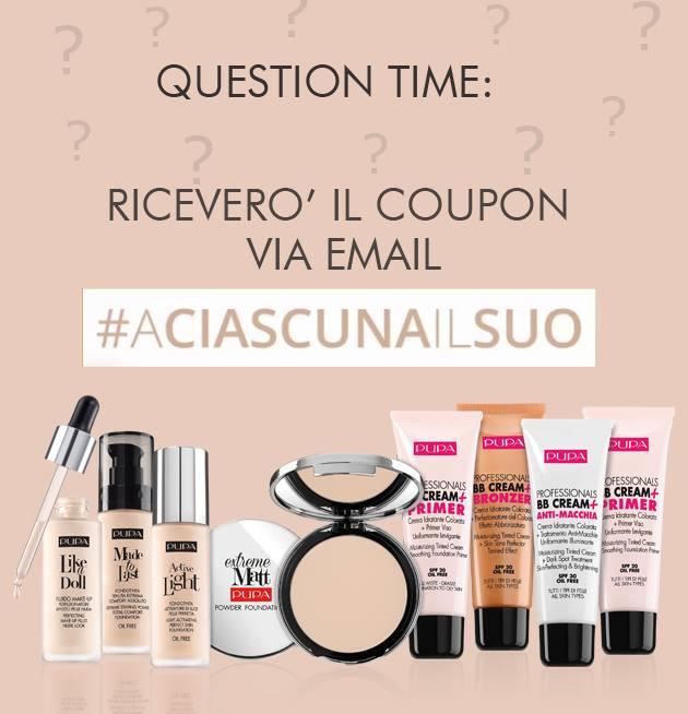 coupon Pupa Milano con #aciascunailsuo