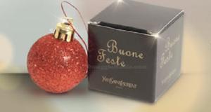 pallina di Natale omaggio Yves Saint Laurent