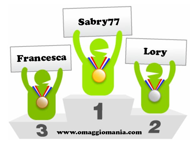 podio Compleanno OmaggioMania 2014