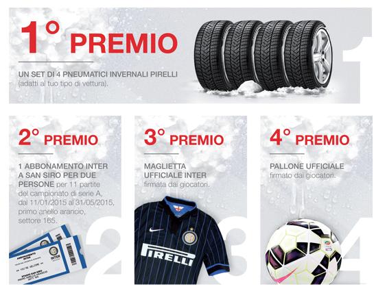 premi concorso a premi Driver Italia e Pirelli