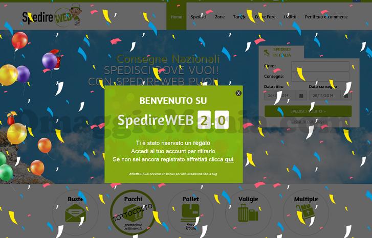 spedizione gratis SpedireWeb
