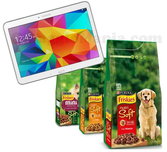 prova a vincere un tablet Samsung Galaxy Tab 4 con Friskies