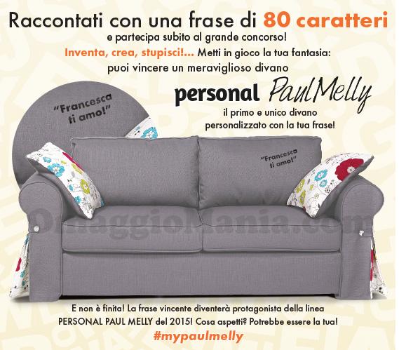 vinci divano Paul Melly personalizzato con la tua frase