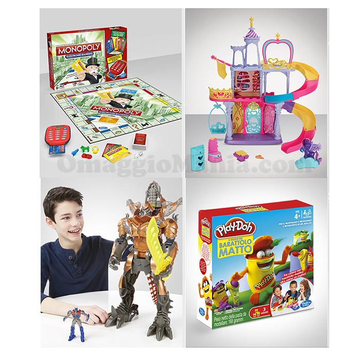 vinci giochi Hasbro e caricabatterie Duracell