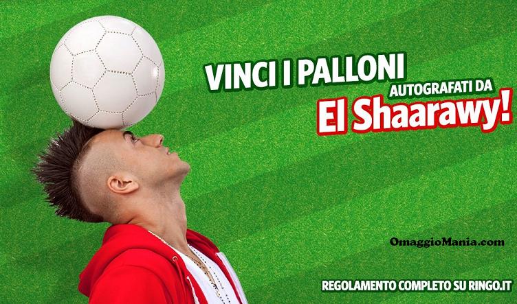 vinci palloni autografati da El Shaarawy e PS4