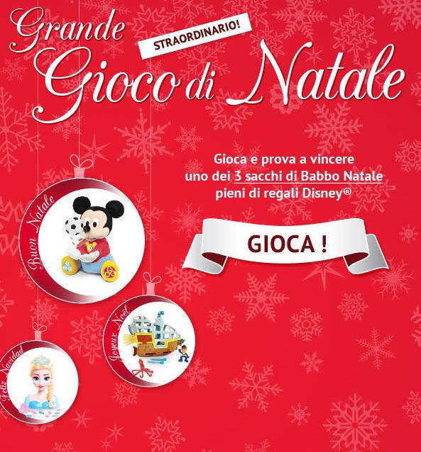 vinci sacchi di Babbo Natale con regali Disney