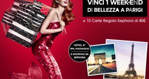 vinci weekend a Parigi o carta regalo Sephora