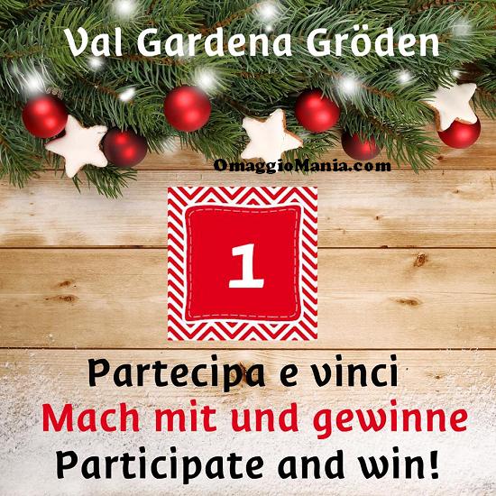 Calendario dell'Avvento Val Gardena vinci gadget