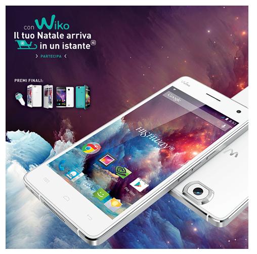Calendario dell'Avvento Wiko vinci smartphone