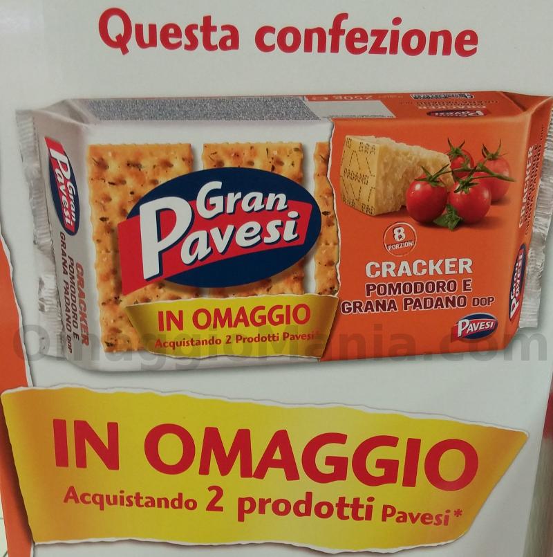 Cracker Gran Pavesi omaggio acquistando 2 prodotti