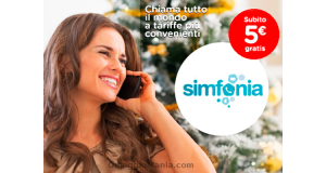 Simfonia - 5 euro gratis per chiamare l'estero