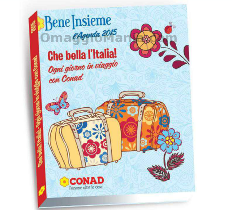 agenda Conad Bene Insieme 2015 omaggio