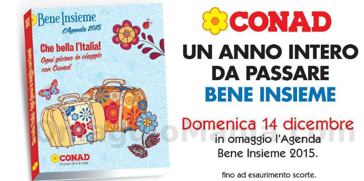 agenda omaggio Conad Bene Insieme 2015