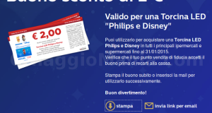 buono sconto Torcina LED Philips Disney