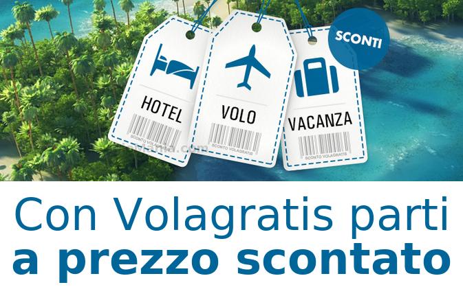 buono sconto Volagratis 70 euro