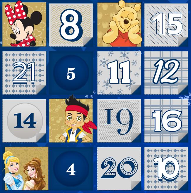calendario dell'Avvento Philips e Disney 2014