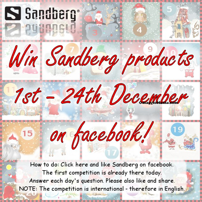 calendario dell'Avvento Sandberg 2014