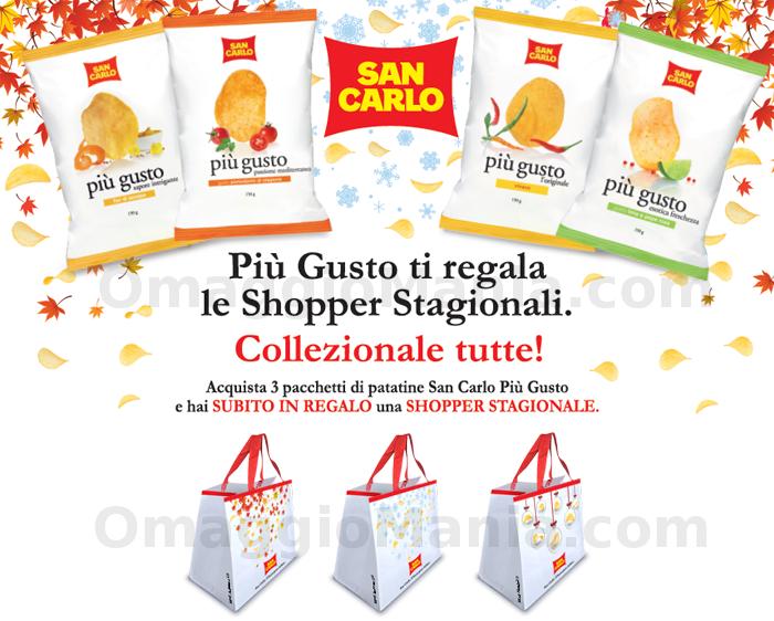 shopper omaggio San Carlo Più Gusto
