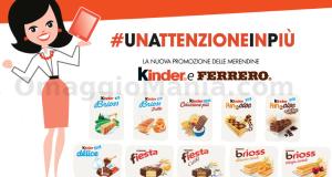#unattenzioneinpiù promozione merendine Kinder e Ferrero
