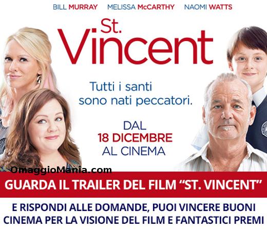 vinci biglietti cinema St. Vincent con Postepay Fun