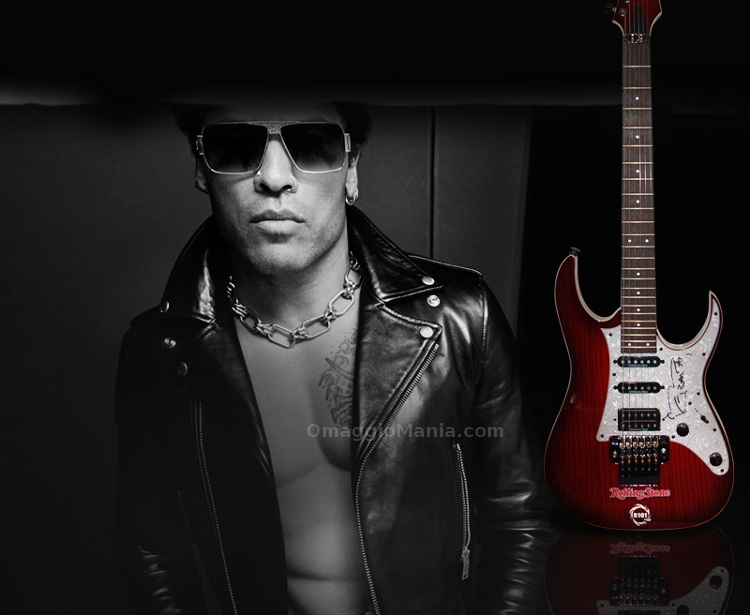 vinci chitarra autografata da Lenny Kravitz