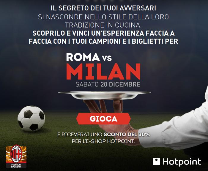 vinci il Milan con Hotpoint