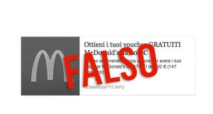 voucher McDonald's truffa