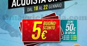 buoni sconto Decathlon 5 euro ogni 50 spesi