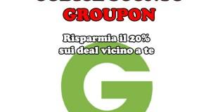 codice sconto Groupon 20 sui deal vicino a te