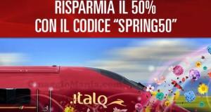 codice sconto Italo Treno 50