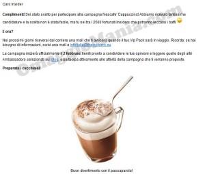 email tester Nescafé Cappuccino Elena