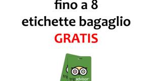 etichette bagaglio gratis da TripAdvisor