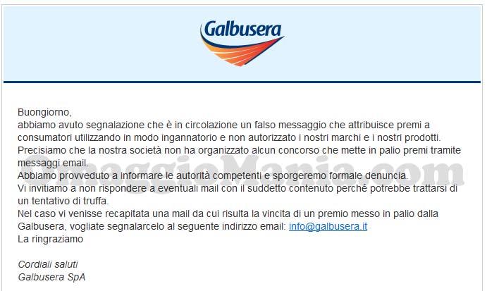 falso concorso Galbusera